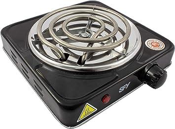 SFY Cocina eléctrica para Shisha cachimba - Hornillo para encender carbón - Placa de Fuego para cocinar - 1000W (Negro): Amazon.es: Deportes y aire libre