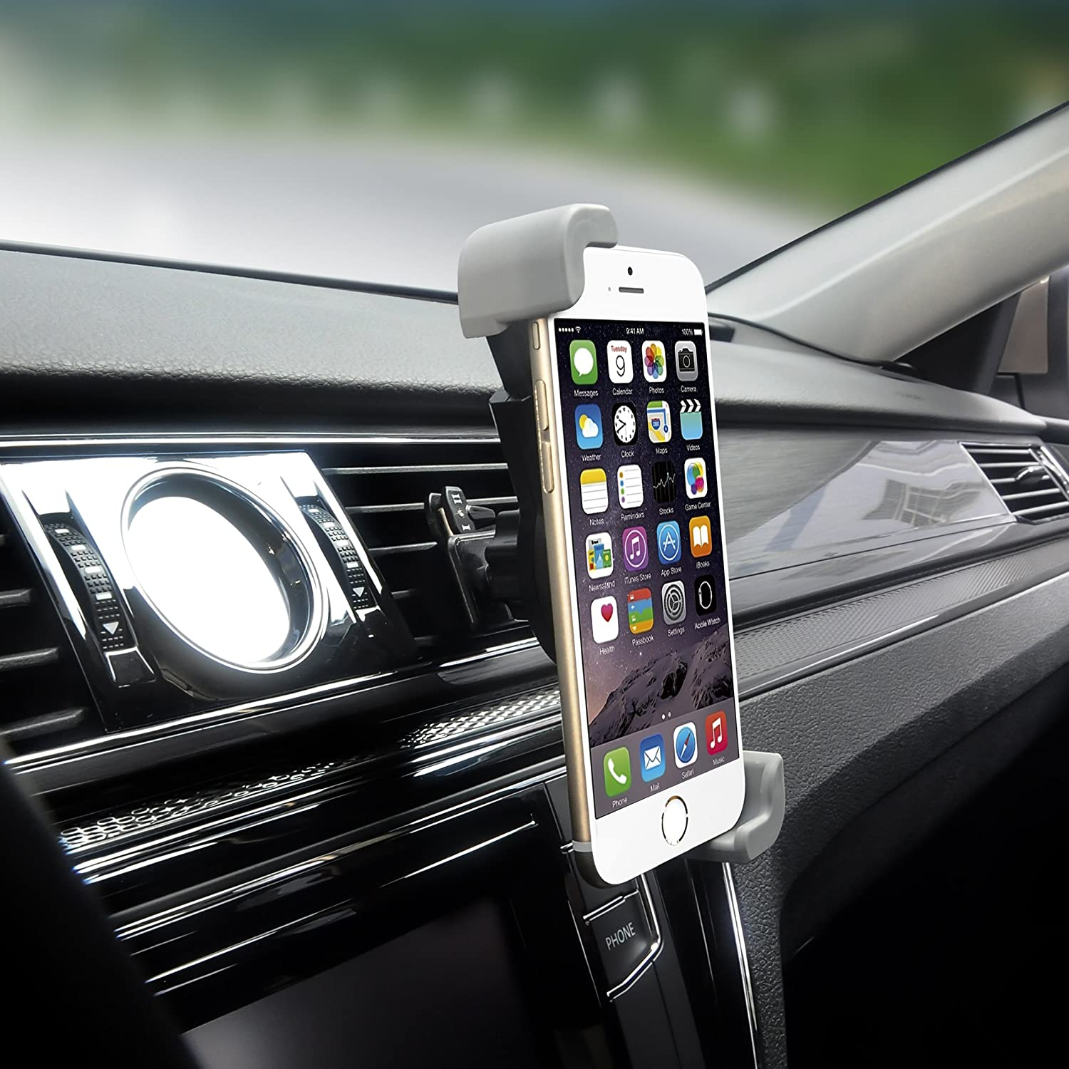 Car Mount Universal Flexible Arm Windshield Car Phone Holder with Strong Suction Cup Compatible iPhone X SE 7 Plus 6s 6 Plus 6 5s 5 4s 4 Samsung Galaxy S9 Plus S8 Note S7 Edge LG Nexus Sony and More