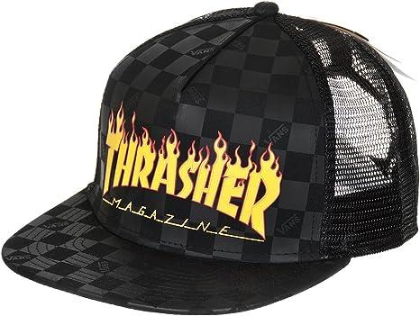 Vans X Thrasher Trucker Cap Black OS: : Vêtements