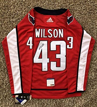 online retailer ffbff 9ae2a Tom Wilson Autographed Signed Washington Capitals Stanley ...