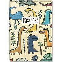 Quttie, Kids Vegan Eco Leather Passport Cover, Passport Holder (Dinosaur Pattern)