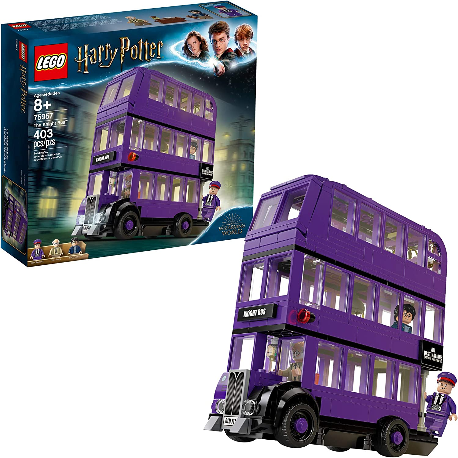 Lego Harry Potter And The Prisoner Of Azkaban Knight Bus 75957 Building Kit 403 Pieces Toys Games