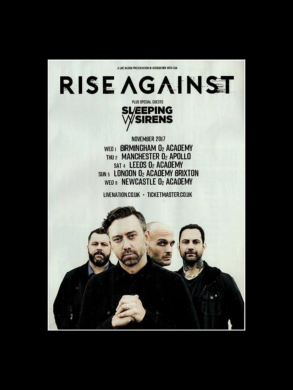 Stick It On Your Wall Rise Against – November 2017 UK Tour Mini ...
