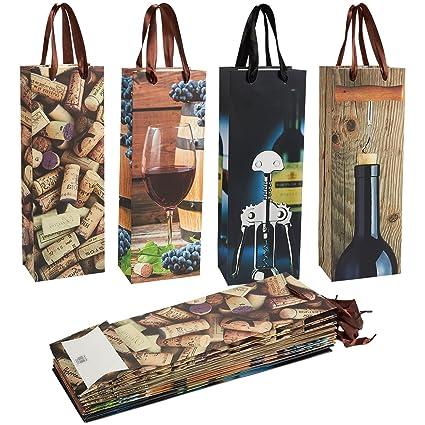 Bolsas de regalo de vino - 12 bolsas de botella de vino ...