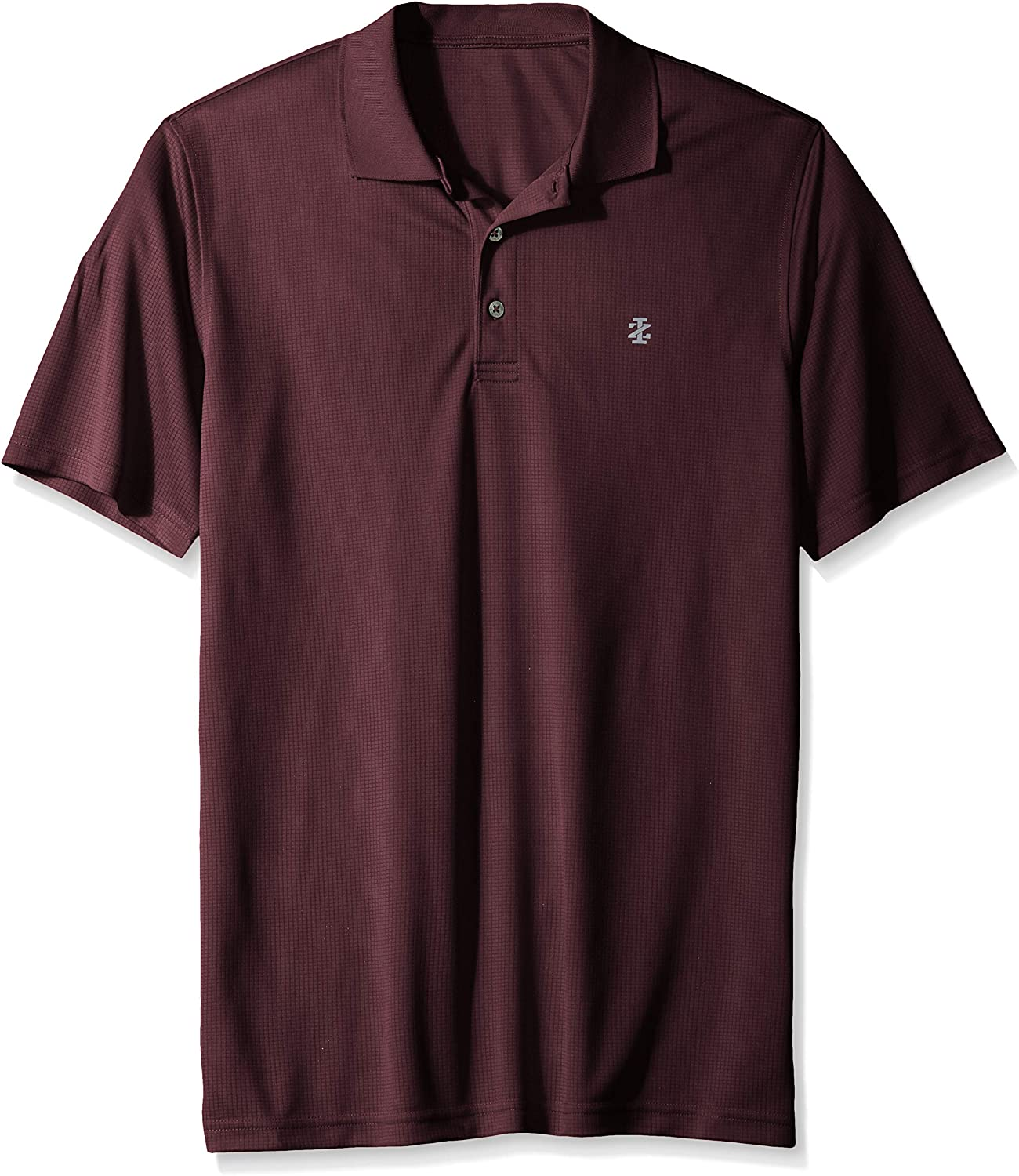 IZOD Mens Big and Tall Golf Grid Short Sleeve Polo, fig, 3X-Large ...