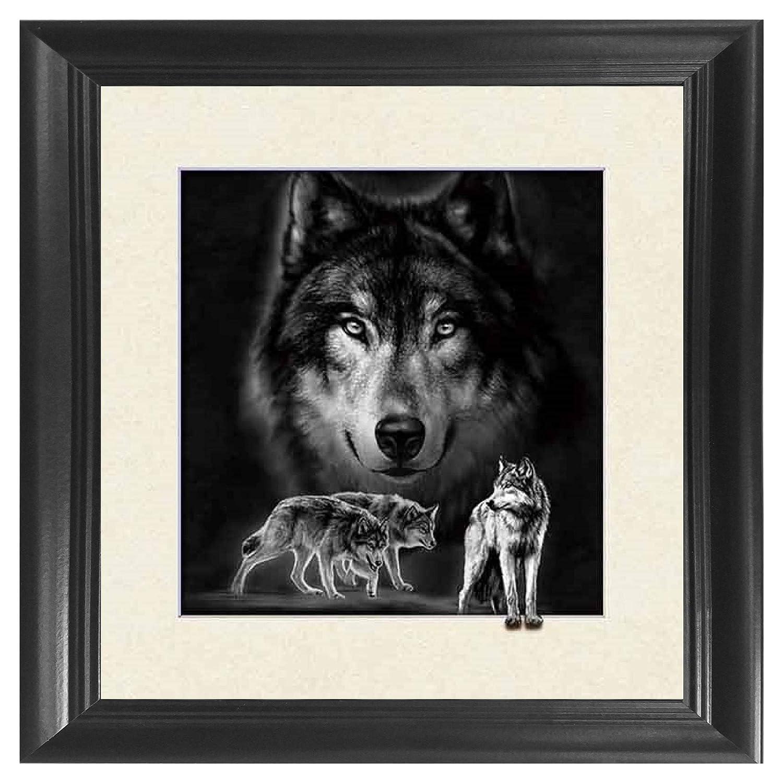 Wolf 5D / 3D Poster Wall Art Decor Framed Print