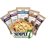 Simply 7 Chips Variety Pack Of 24 Bags 6 Flavors All Natural Gluten Free High Fiber Vegan No Preservatives Certified Kosher Includes Chips Recipes Booklet By Custom Varietea (Snack Size) (24 Pack)