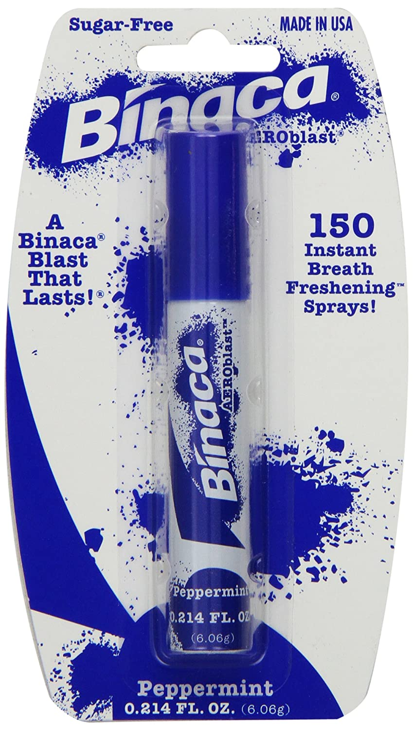 Binaca fast blast breath spray, peppermint flavor - 0.2 oz 81102C