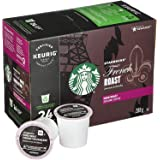Starbucks French Roast Coffee K-Cup Pods | Dark Roast | Coffee Pods for Keurig Brewers | 4 Boxes (96 Pods)