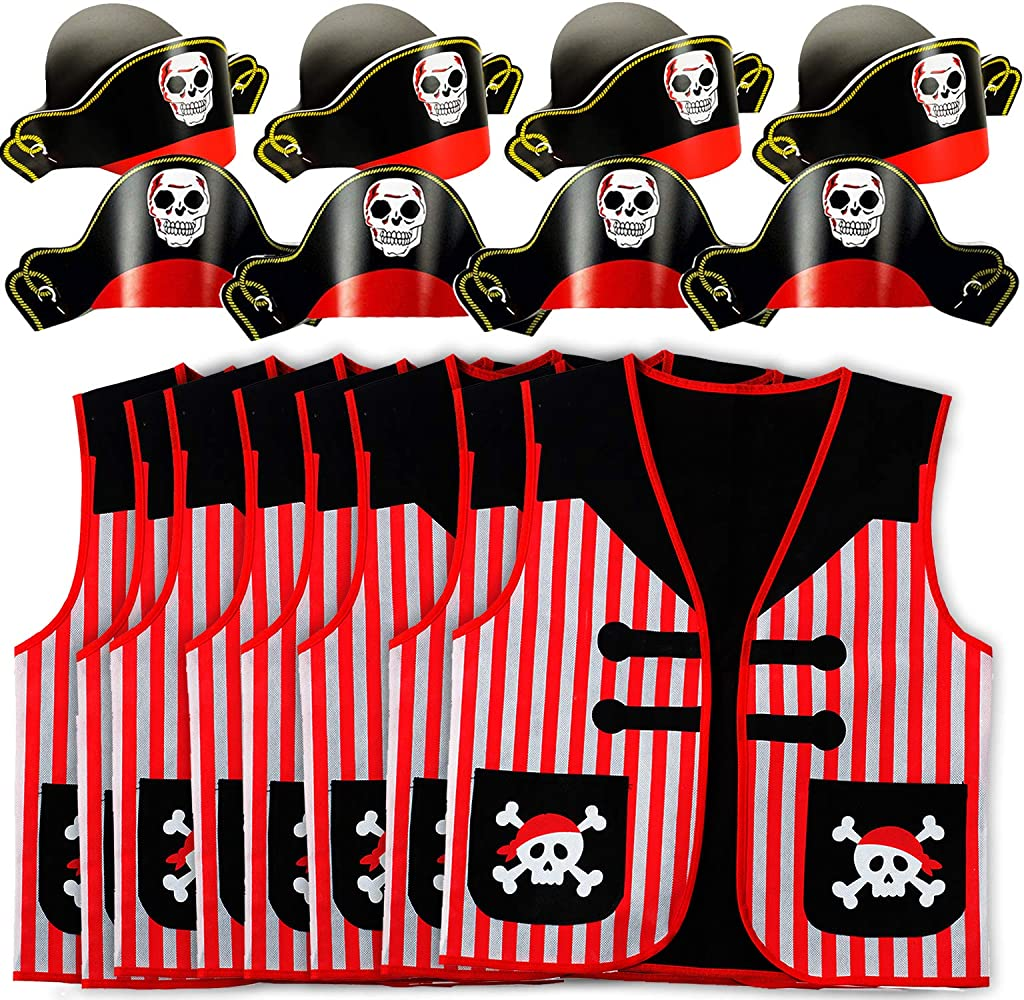 Tattoos Temporary Red Black Pirate Skull /& Crossbones Tattoo x 12 Party Bags