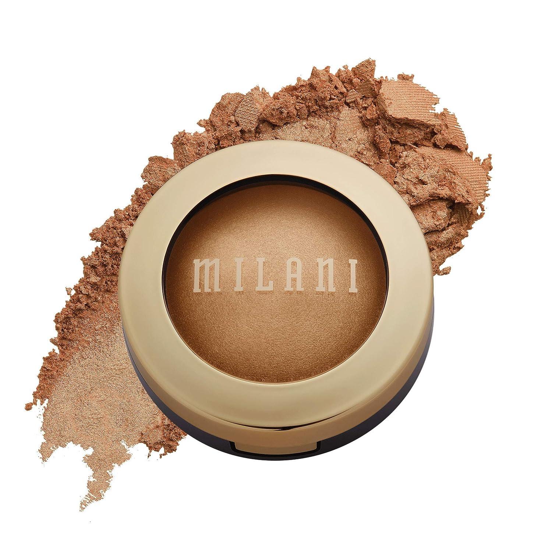 Milani Baked Highlighter (Bronze Splendore) - Cruelty-Free Powder Highlighter, Highlight Face for a Shimmery or Matte Finish