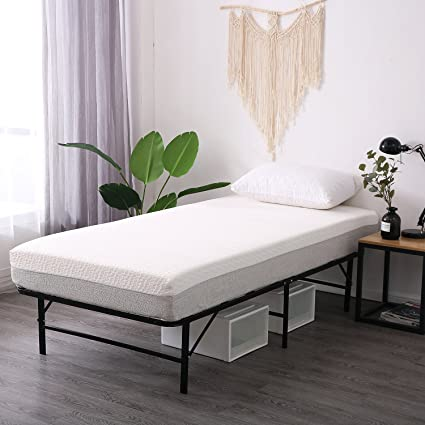 Amazon.com: Leisuit Platform Bed Frame Base - Black Finish Bedroom ...