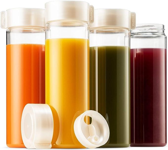 Amazon.com: Komax - Juego de 4 botellas de zumo para batidos ...
