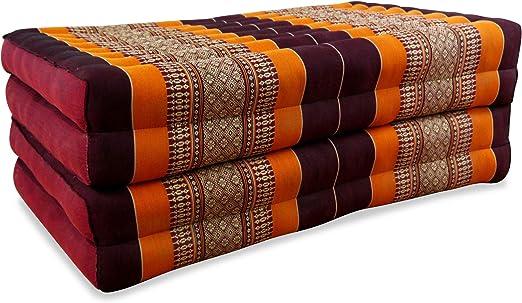 2 foldable mattress Kapok mat meditation massage natural Thai daybed foldable