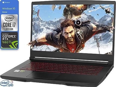 "Amazon.com: MSI GF65 Thin Gaming Laptop, 15.6"" FHD Display, Intel Core i7- 10750H Hasta 5.0GHz, NVIDIA GeForce GTX 1660 You, HDMI, Wi-Fi, Bluetooth, Windows 10, Negro: Computers & Accessories"