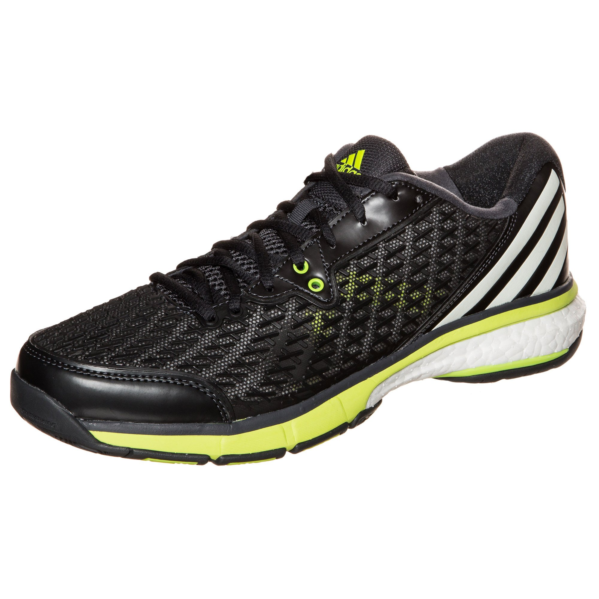 adidas Energy Boost Volley Men's Shoes Dark Grey/White/Yellow (12.5) by adidas