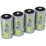 ANSMANN LSD Mono D Akkubatterie 1 2 V/Typ 5000mAh/Hochkapazitiver NiMH Akku mit konstant hoher Leistungsabgabe & Langlebigkeit - ideal für Geräte mit hohem Stromverbrauch 4 Stück