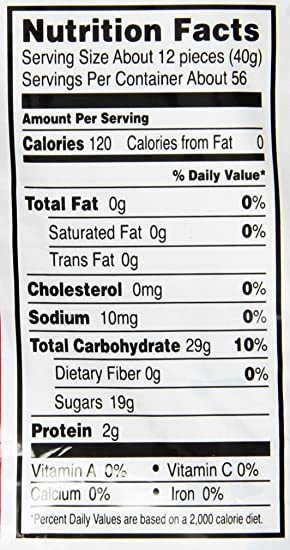 haribo roulette nutrition information