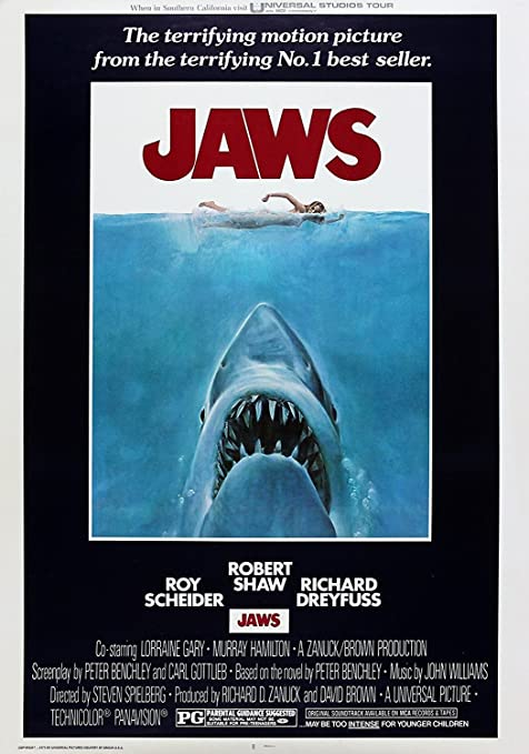 Jaws Classic Movie Poster Various Sizes A3 Size 29 X 42 Cms Amazon Co Uk Kitchen Home