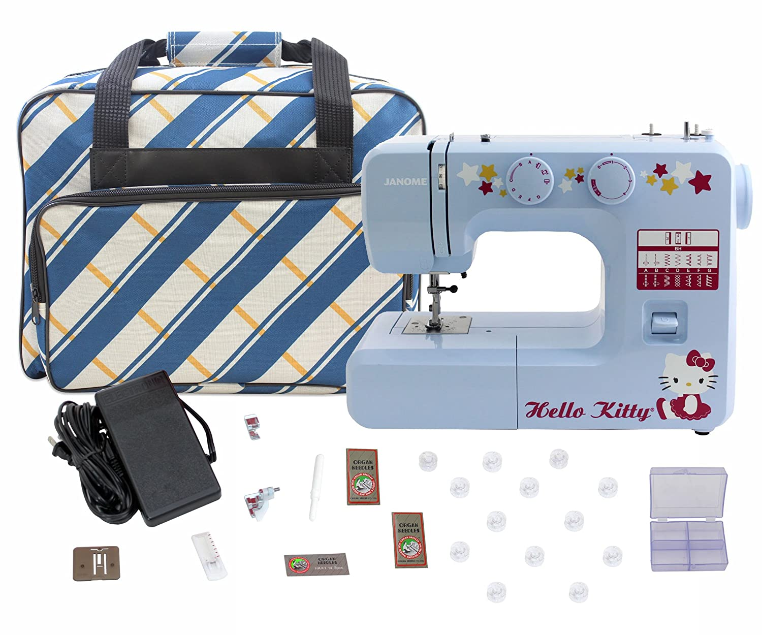 Janome 15312 Blue Hello Kitty Sewing Machine with Bonuspack! 4336999779