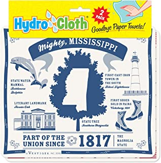 product image for Fiddler's Elbow Mighty, Mississippi Hydro Cloth | Eco-Friendly Sponge Cloths | Reusable Swedish Dish Cloths | Set of 2 Printed Sponge Cloths | Replaces 30 Rolls of Paper Towels