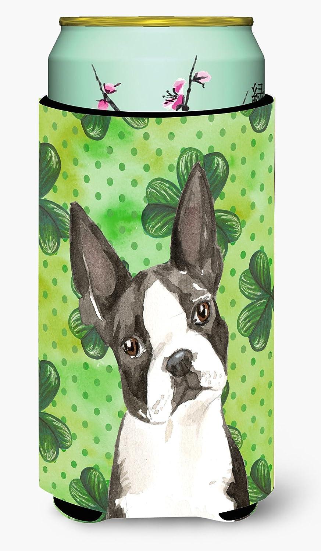 Caroline's Treasures CK1812TBC Shamrocks Boston Terrier Tall Boy Beverage Insulator Hugger, Tall Boy, multicolor
