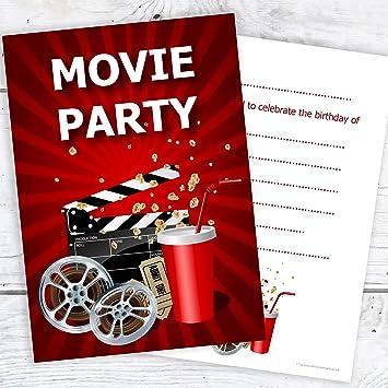 Olivia Samuel Movie Party Invitations Kids Cinema Party Invites
