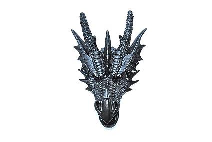 amazon com near and deer faux taxidermy dragon head wall mount