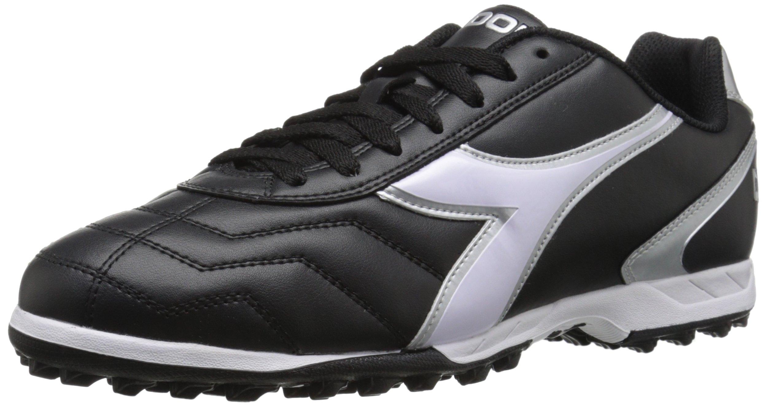 Diadora Men's Capitano Turf Soccer Shoes, Black/White 9 D(M) US