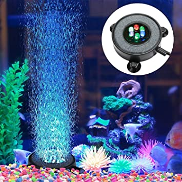 Led Aquarium Fish Tank Lights Airstone Bubble Submersible Under Water Lighting Always Buy Good Fish & Aquariums Fish & Aquariums