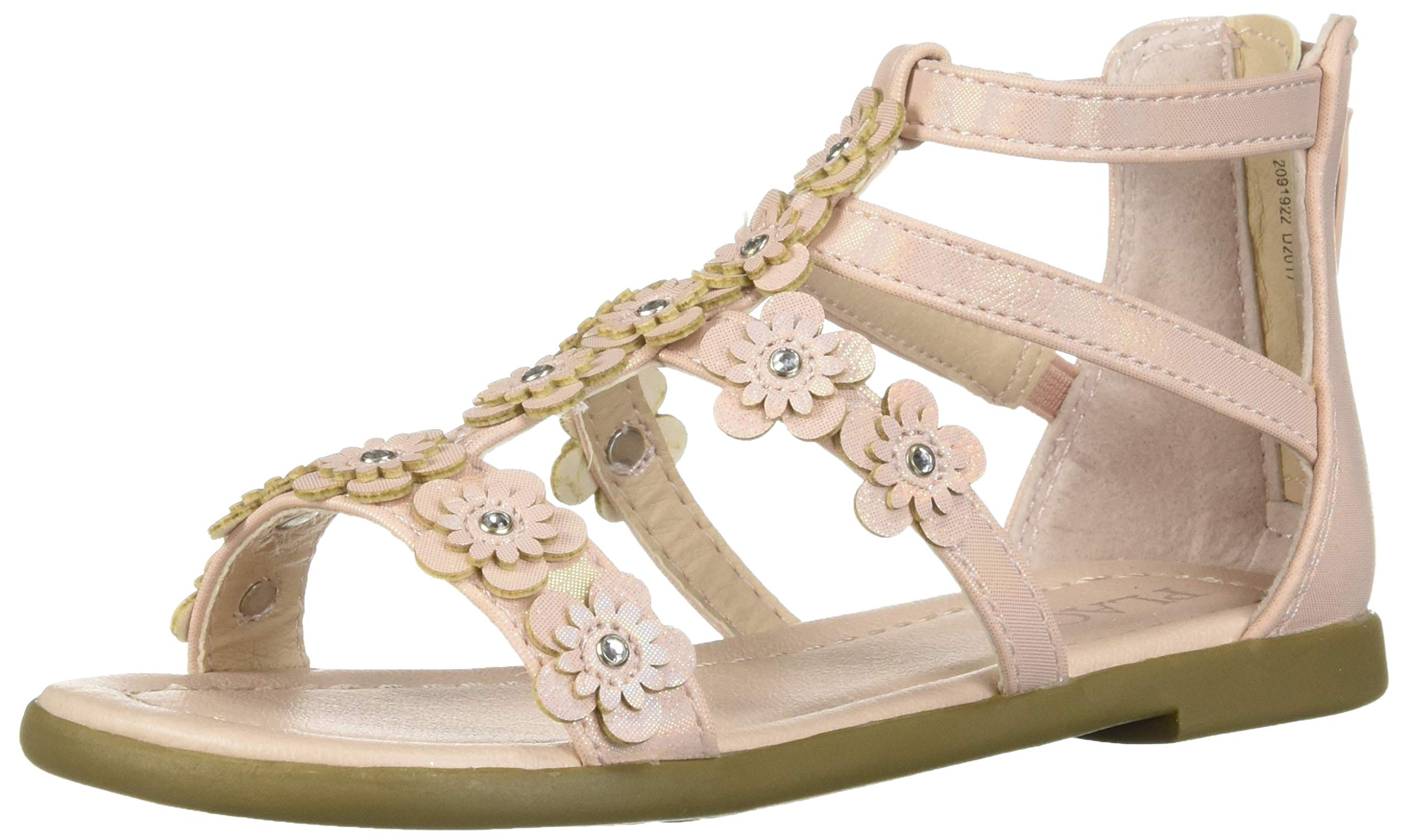 The Children's Place Girls' Sandal, Pink, Youth 5