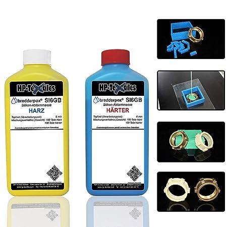 Abform-Silikon Kautschuk zum Gießen 1kg | Für einen detailgetreuen Abdruck im Formenbau, Modellbau, Bastelarbeiten | Hautfreu