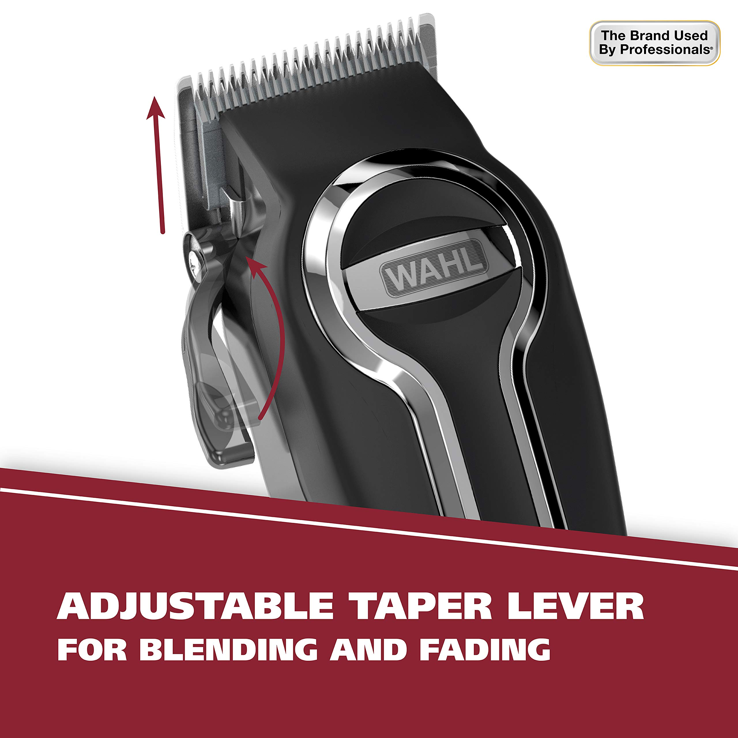 Wahl Clipper Elite Pro High Performance Haircut Kit for men, includes Electric Hair Clippers, secure fit guide combs with stainless steel clips - By The Brand used by Professionals #79602 by WAHL (Image #5)