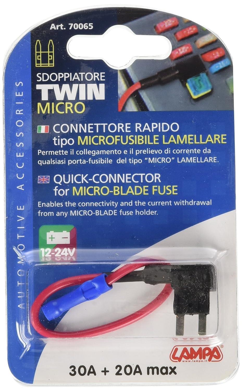 Lampa 70065 Cavetto Connessione Micro Fusibile Lamellare