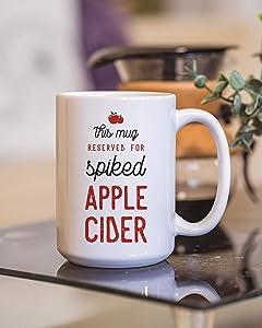 Spiked Apple Cider Mug, Fall Mug, Coffee Mug, Cute Coffee Mug, Coffee Gift 11oz