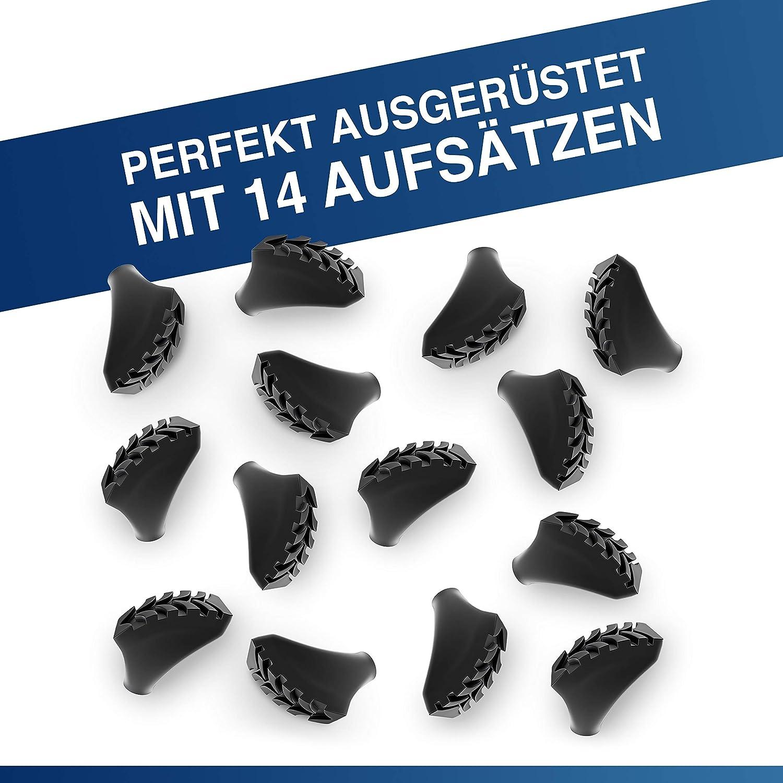 unidades 14 Alpen Bears Orginal Nordic-Walking /& Wanderstock Gummipuffer Set