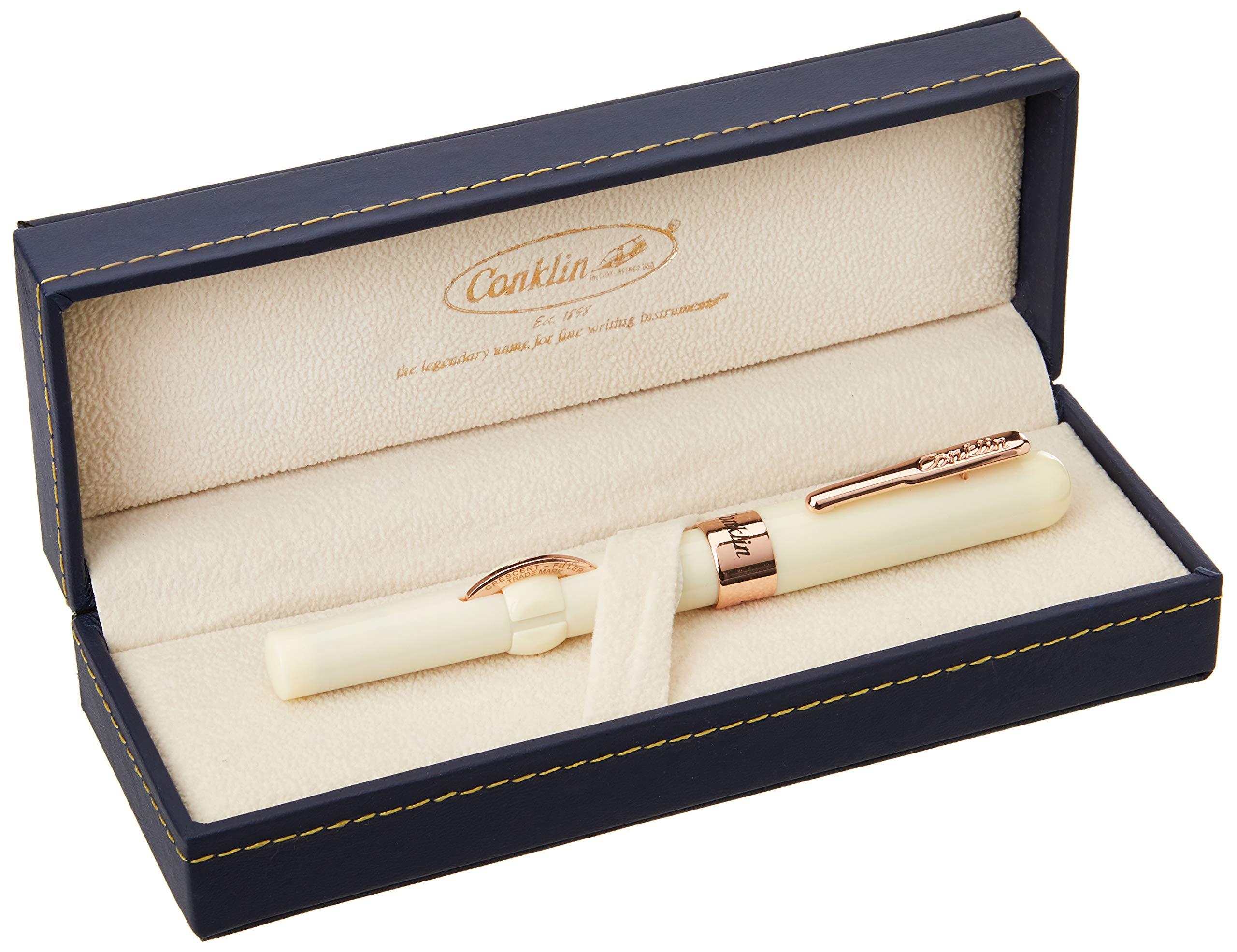 Conklin Mark Twain Crescent Filler Fountain Pen (Ivory) - Fine Nib Fountain Pen, Ivory (CK71780:CK7181) by Conklin (Image #2)