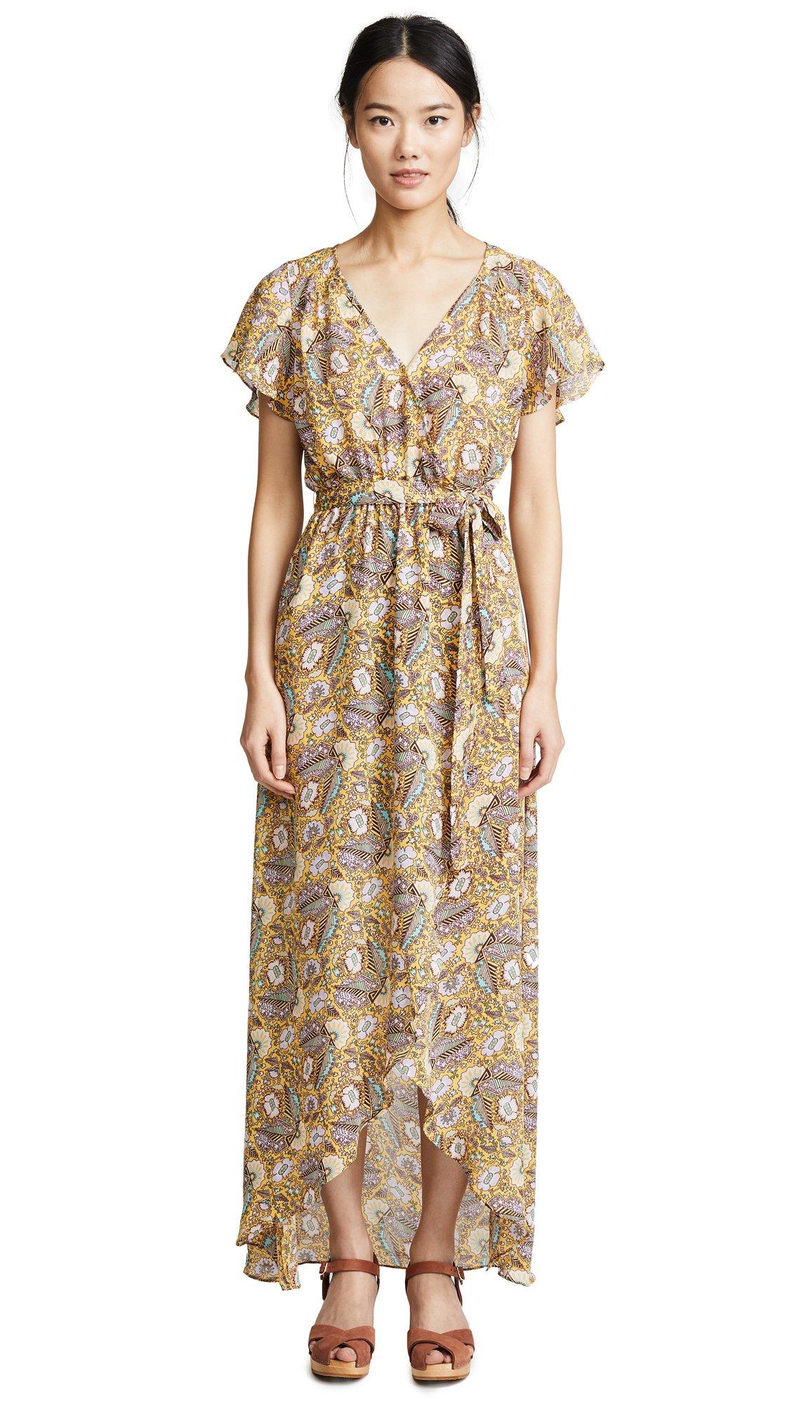 Ella Moss Women's Wrap Dress, Dandelion, L