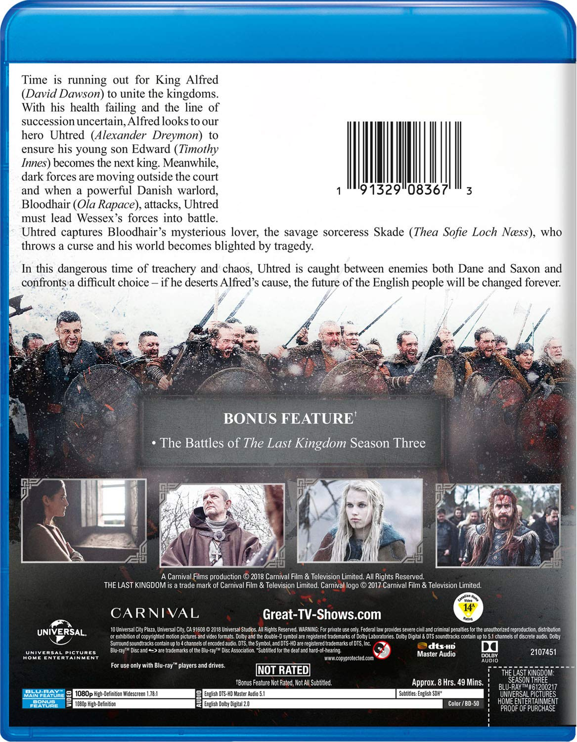 Amazon com: The Last Kingdom: Season Three [Blu-ray]: David
