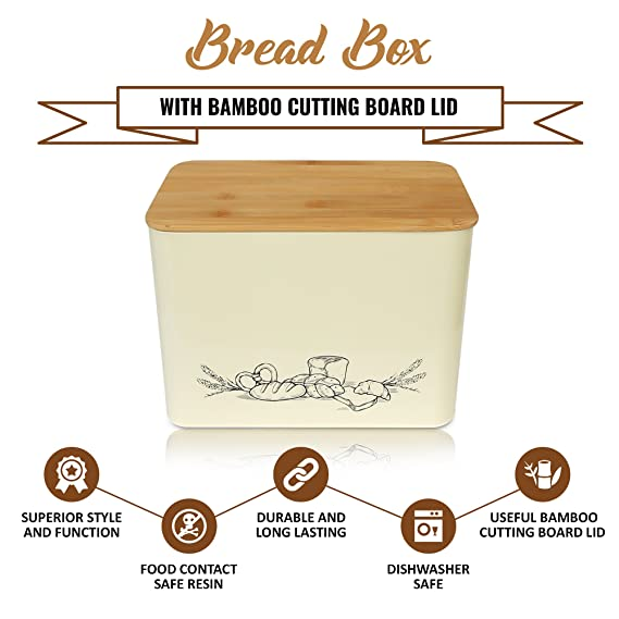 Well-known Amazon.com: Space Saving Extra Large Vertical Bread Box With Eco  PO19