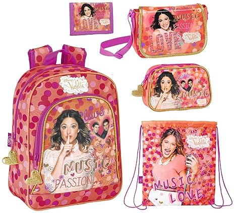 Disney Violetta Mochila, Bolsas de deporte, Bolso bandolera, Mini Bolsa de maquillaje y