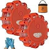 Garage Monkey Engineering LED Road Safety Flare Roadside Warning Safety Flare Kit for Vehicles & Boat | 2 Beacon Disc…