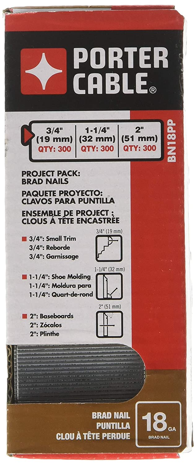 PORTER-CABLE BN18PP 18 Gauge Brad Nail Project Pack