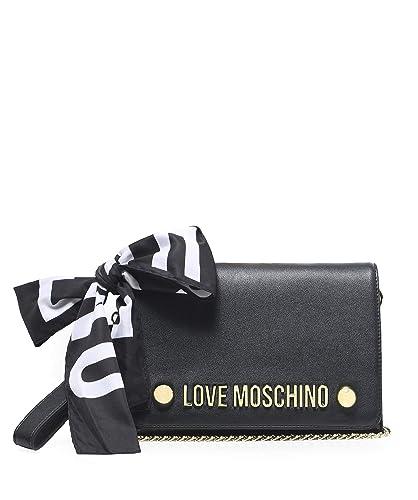 Moschino Love Moschino Femmes Echarpe cravate pochette Noir  Amazon ... 64bb4f35ca74