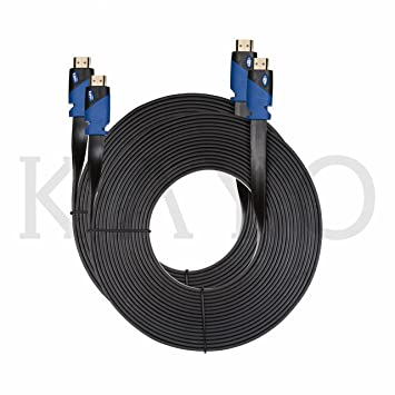 FLAT HDMI Cable - 25 FT [2 Pack], High Speed HDMI Cable (7.6m) Flat ...