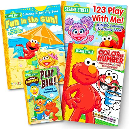 Sesame Street Coloring Book Super Set 3 Jumbo Books