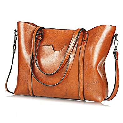 1e57715269 Amazon.com  (Upgraded Version) JUNDUN Women Bag Top Handle Satchel Vintage  Shoulder Bag Tote Purse Large Capacity Bags  Shoes