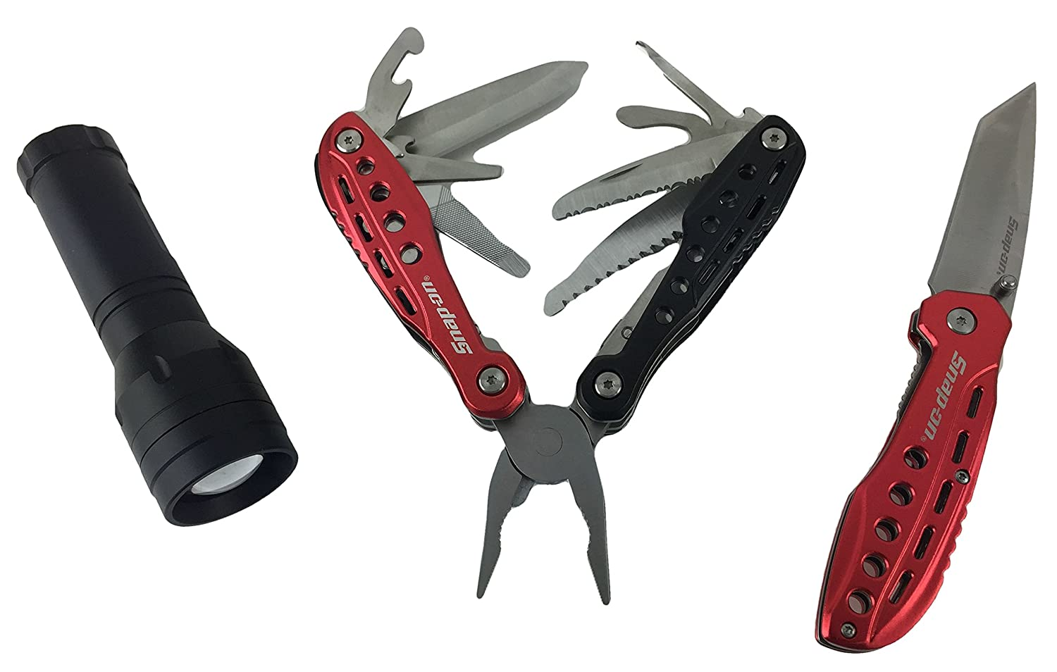 Snap on 3pc multi tool knife flashlight set