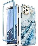 i-Blason Cosmo 系列保护套,适用于 iPhone 11 Pro Max 2019 版本,超薄全身时尚保护壳,内置屏幕保护膜Cosmo Series 蓝色