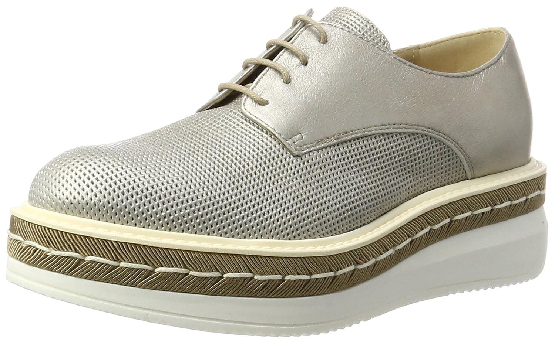 Peperosa 3402/1, Zapatos Derby de Cuña Mujer 38 EU|Plateado (Mocha)
